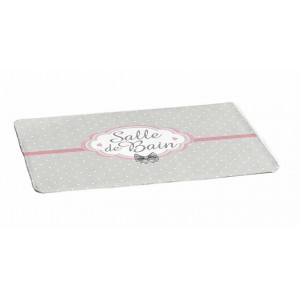 Sivo rúžová kúpeľňová predložka 45 x 75 cm
