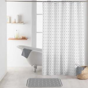 Elegantný biely záves do sprchy v škandinávskom štýle 180 x 200 cm
