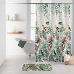 Fenomenálny nepremokavý záves do sprchy s exotickým motívom 180 x 200 cm