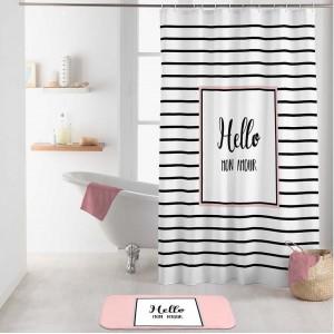 Originálny nepremokavý záves do sprchy s n'pisom HELLOU MON AMOUR 180 x 200 cm