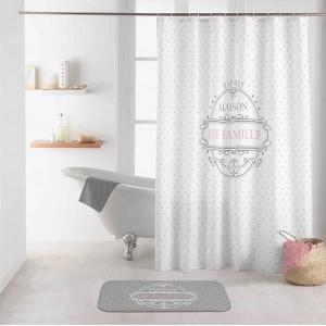 Originálny biely nepremokavý záves do sprchy MAISON DE FAMILLE 180 x 200 cm