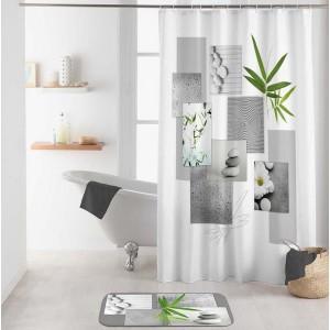 Bliely nepremokavý záves do kúpeľne s motívom ZEN 180 x 200 cm