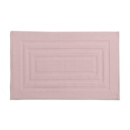 Bavlnená svetlo rúžova predložka do kúpeľne 50 x 85 cm