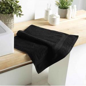 Čierny bavlnený uterák 50 x 90 cm