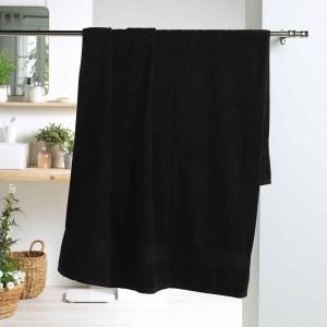 Kvalitná čierna bavlnená osuška 90 x 150 cm
