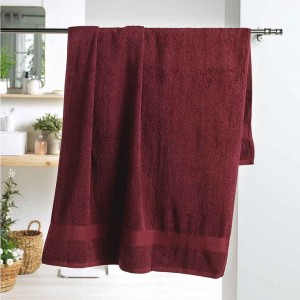 Bordová osuška zo 100% bavlny 90 x 150 cm