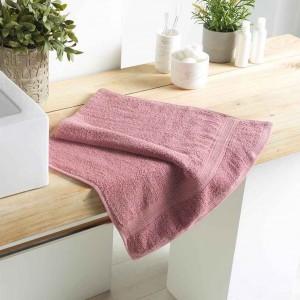 Jemný bavlnený ružový uterák 50 x 90 cm