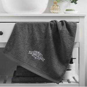 Luxusný sivý bavlnený uterák CHARCOAL GREY  50 x 90 cm