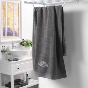 Originálny bavlnený sivý uterák VINTAGE CHARCOAL GREY 70 x 130 cm