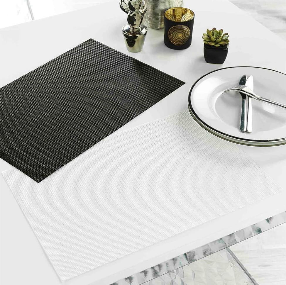 DomTextilu Bielo strieborné prestieranie na stôl 30 x 45 cm Biela