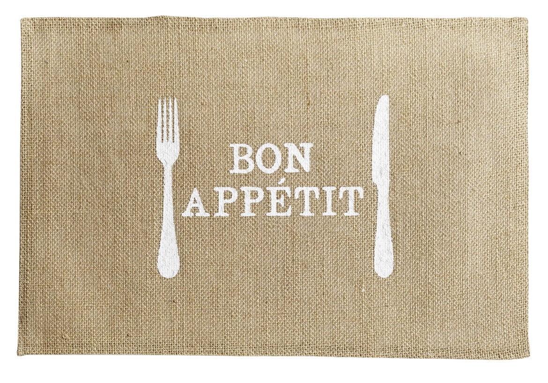 Štýlové prestieranie na stôl s nápisom BON APETIT 30 x 45 cm