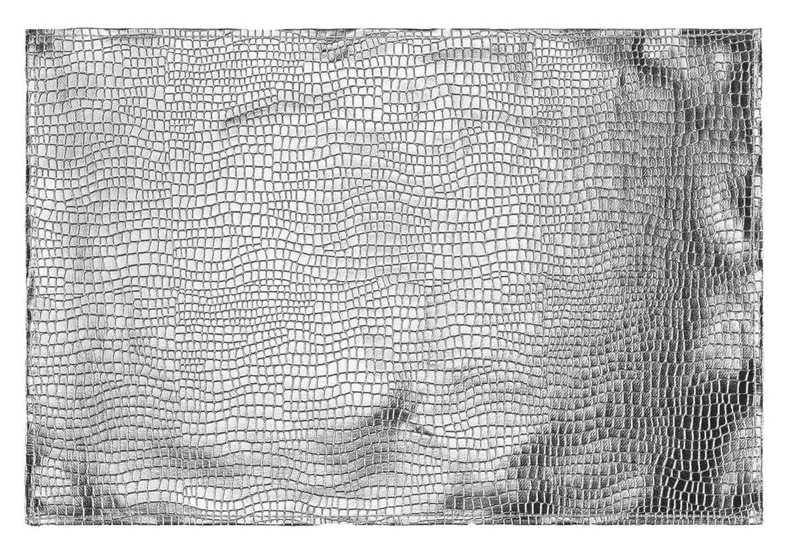 Luxusné strieborné prestieranie na stôl s haďou potlačou 30 x 45 cm