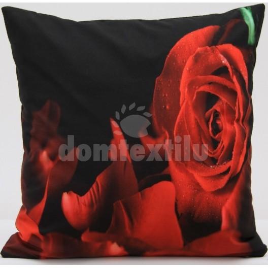 Vankúš ružový kvet