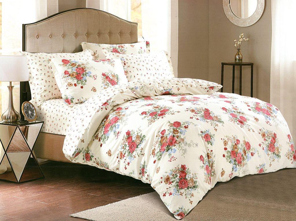 DomTextilu Vintage bavlnené krémové obliečky s motívom ruží 35887-171671