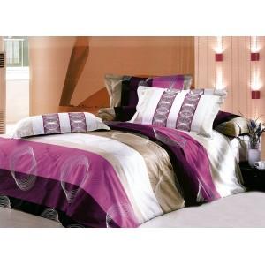 Luxusné fialové obojstranné bavlnené posteľné obliečky