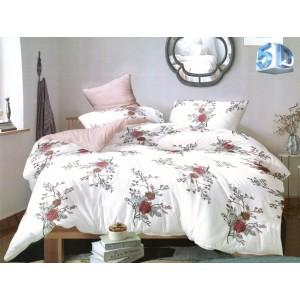 Bielo ružové vintage posteľné obliečky z mikrovlákna