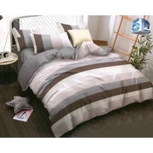 Originálne sivé posteľné obliečky z mikrovlákna s farebnými pásmi