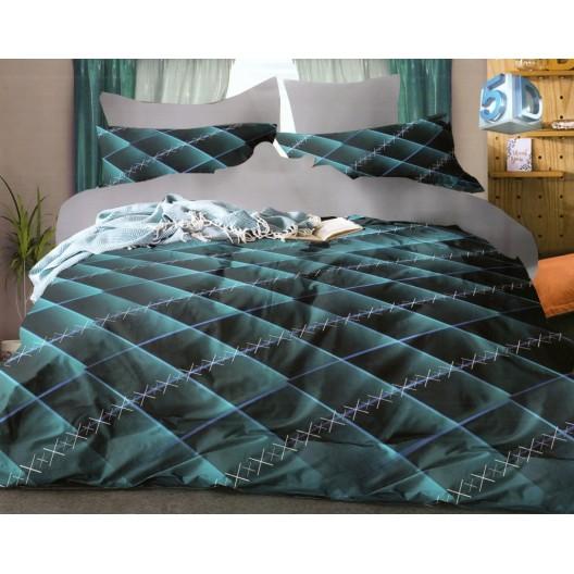 Moderné zelené posteľné obliečky z mikrovlákna