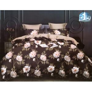 Kvalitné hnedé obojstranné posteľné obliečky z mikrovlákna