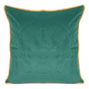 Zelená zamatová obliečka na vankúš