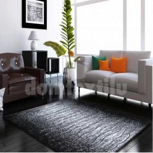 Moderný koberec do obývačky v sivej farbe