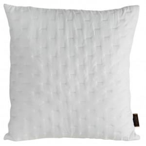 Dekoračná prešívana obliečka na vankúš bielej farby