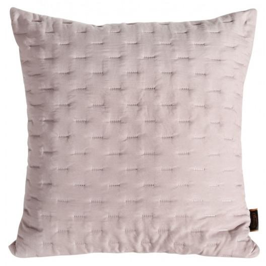 Dekoračná prešívaná obliečka na vankúš ružovej farby