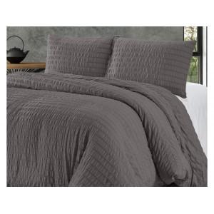 Krásna antracitové jednofarebné posteľné obliečky 200 x 220 cm