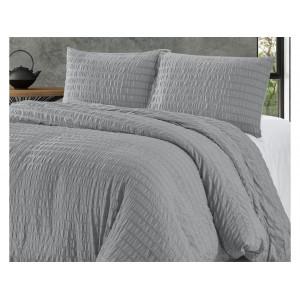 Jednofarebné svetlo sivé posteľné obliečky 200 x 220 cm