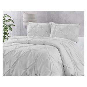 jednofarebné biele posteľné obliečky 200 x 220 cm