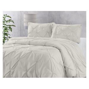 Originálne krémové jednofarebné posteĺné obliečky 200 x 220 cm