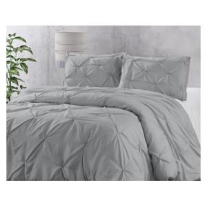 Moderné svetlo sivé posteľné obliečky 200 x 220 cm