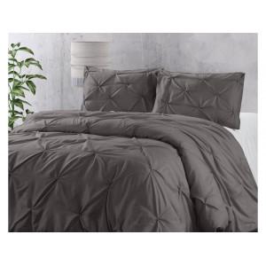 Štýlové tmavo sivé posteľné obliečky 200 x 220 cm