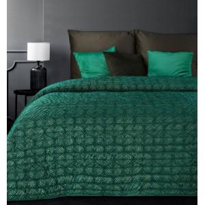 Krásny zelený prehoz na posteľ s trblietkami