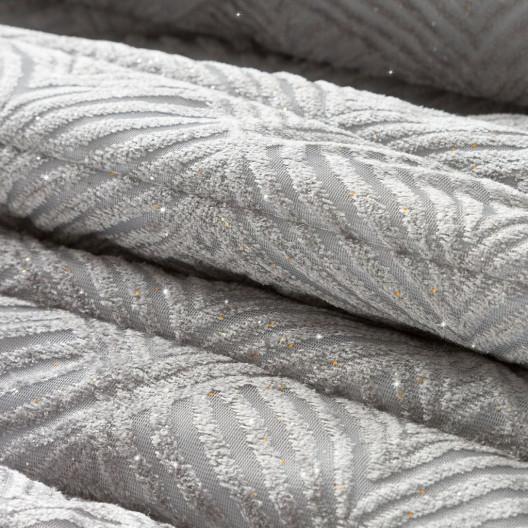 Fenomenálny sivý zamatový prehoz s trblietkami