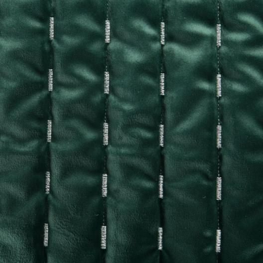 Smaragdovo zelený jednofarebný zamatový prehoz