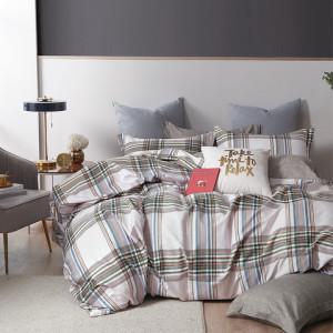 Kvalitné bavlnené sivo béžové posteľné obliečky