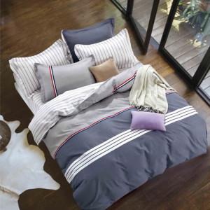 Moderné obostranné bavlnené posteľné obliečky granátovo modré