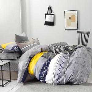 Krásne sivé posteľné obliečky so vzorovaným motívom
