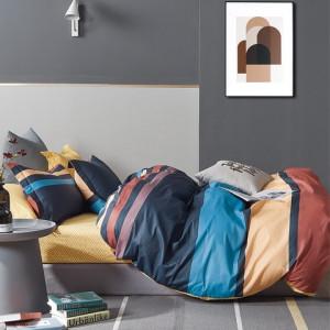 Kvalitné bavlnené posteľné obliečky s farebnými pruhmi