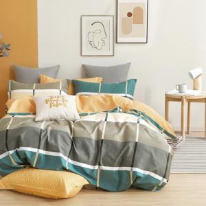 Štýlové bavlnené posteľné obliečky kárované