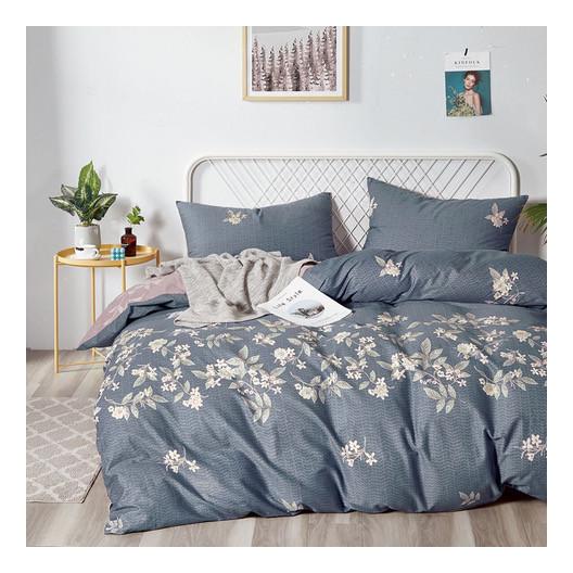 Brilantné bavlnené posteľné obliečky s motívom kvetov
