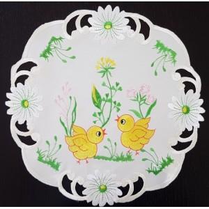 Veľkonočný dekoračný obrus s vyšívaním