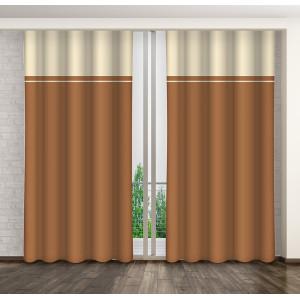 Dvojfarebný dekoratívny záves s riasiacou páskou 250 cm SKLADOM