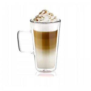 Sada šestich dvojstenných pohárov Coffe