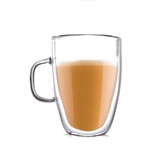 Sada šiestich dvojstenných pohárov Latte long
