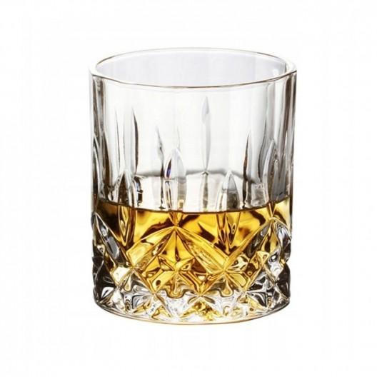 Sada šiestich sklenených pohárov Whiskey