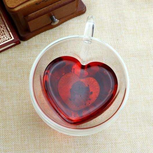 Sada dvojdielnych pohárov Heart