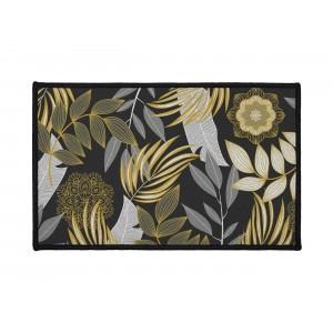 Malý koberec do predsiene s exotickým motívom listov 50 x 80 cm
