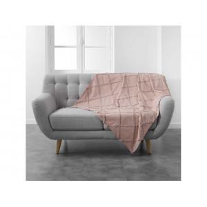 Kvalitná ruˇžová bavlnená deka 1250 x 150 cm